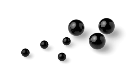 Swiss Jewel Black Glass Balls