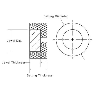 Swiss Jewel Sapphire Endstone Assemblies Diagram