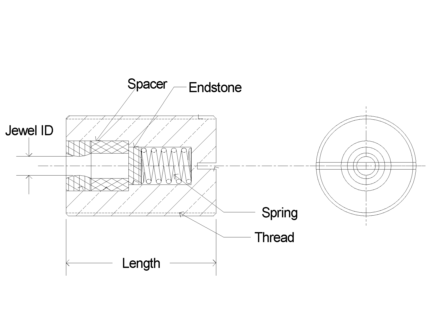 Swiss Jewel Ring Jewel Spring Loaded Labeled Cad Diagram