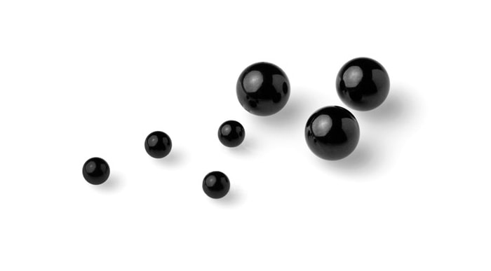 Black Glass Balls